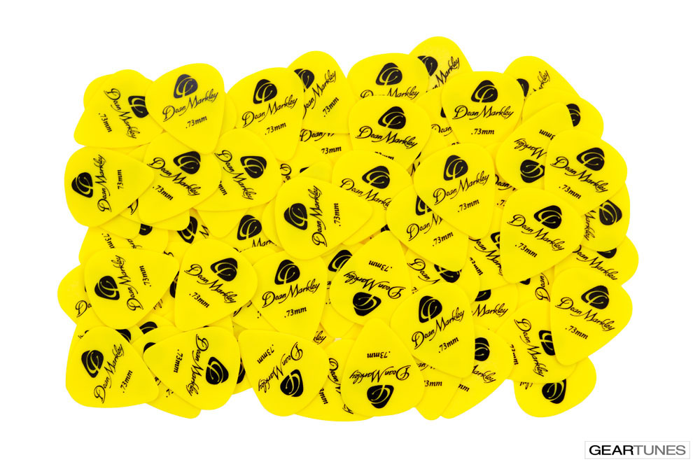 Accessories Dean Markley Refill Bag of 72 .73mm Delrin Yellow Picks 2