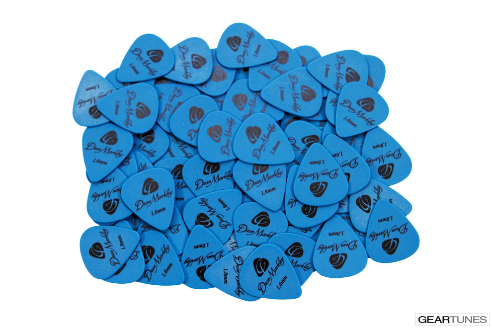 Picks Dean Markley Refill Bag of 72 1.0mm Delrin Blue Picks 2
