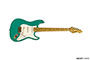 Rock N Roll Relics Blackmore Model - Sea Foam Green