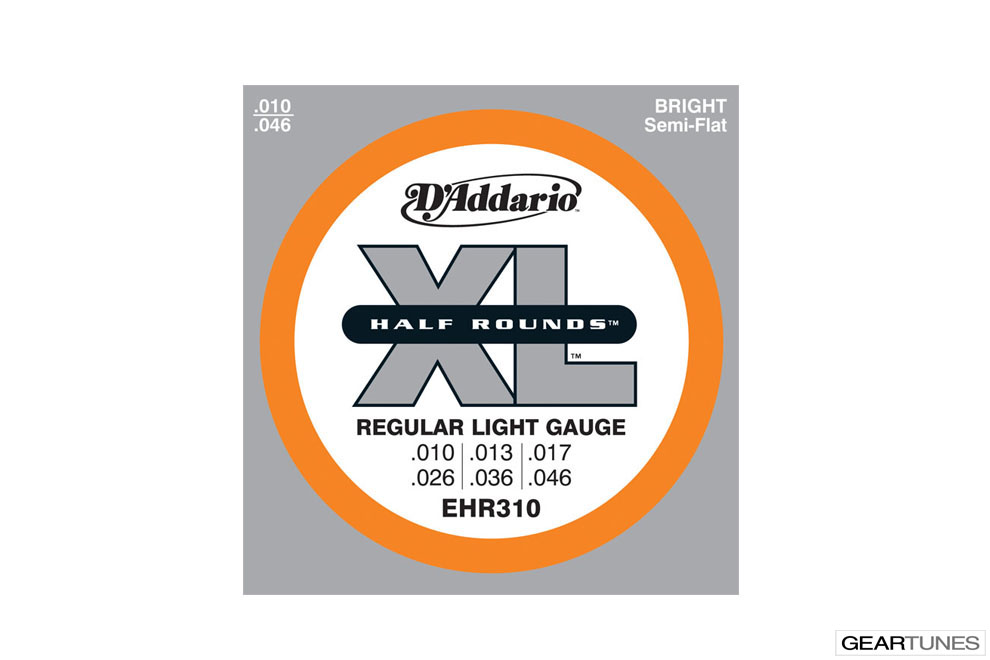 Electric Guitar Strings D'Addario EHR310 Half Rounds, Regular Light, 10-46