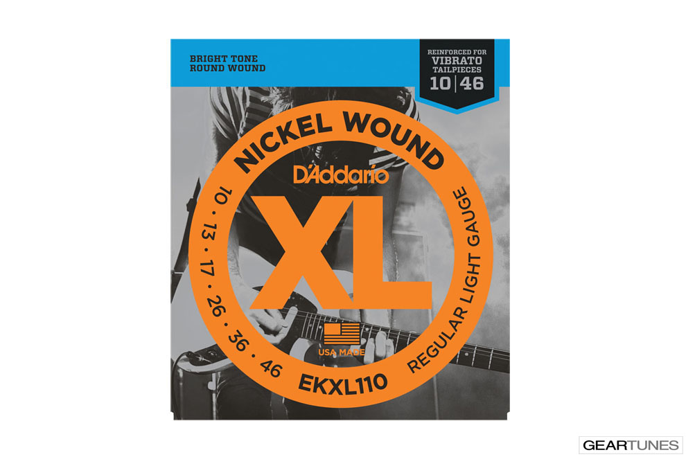 Accessories D'Addario EKXL110 Nickel Wound, Regular Light, Reinforced, 10-46