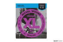 D'Addario EKXL120 Nickel Wound, Super Light, Reinforced, 9-42
