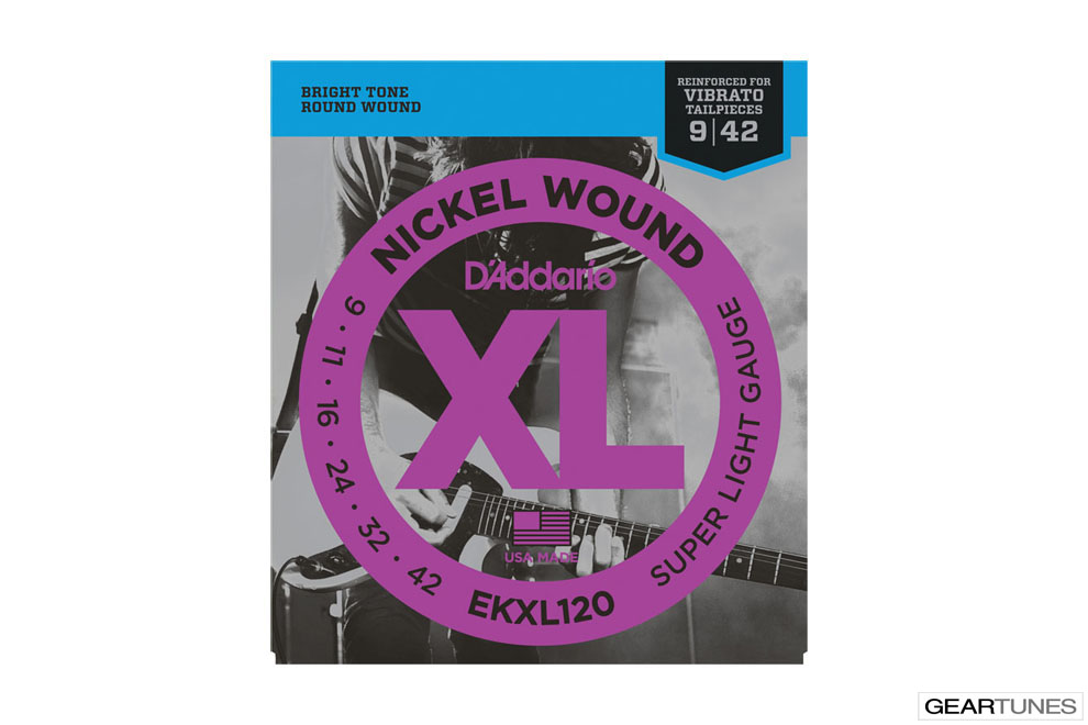 Electric Guitar Strings D'Addario EKXL120 Nickel Wound, Super Light, Reinforced, 9-42