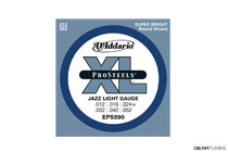 D'Addario EPS590 ProSteels, Jazz Light, 12-52