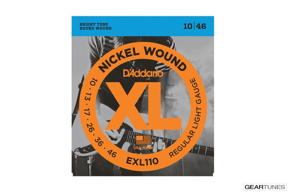 Electric Guitar Strings D'Addario EXL110 Nickel Wound, Regular Light, 10-46