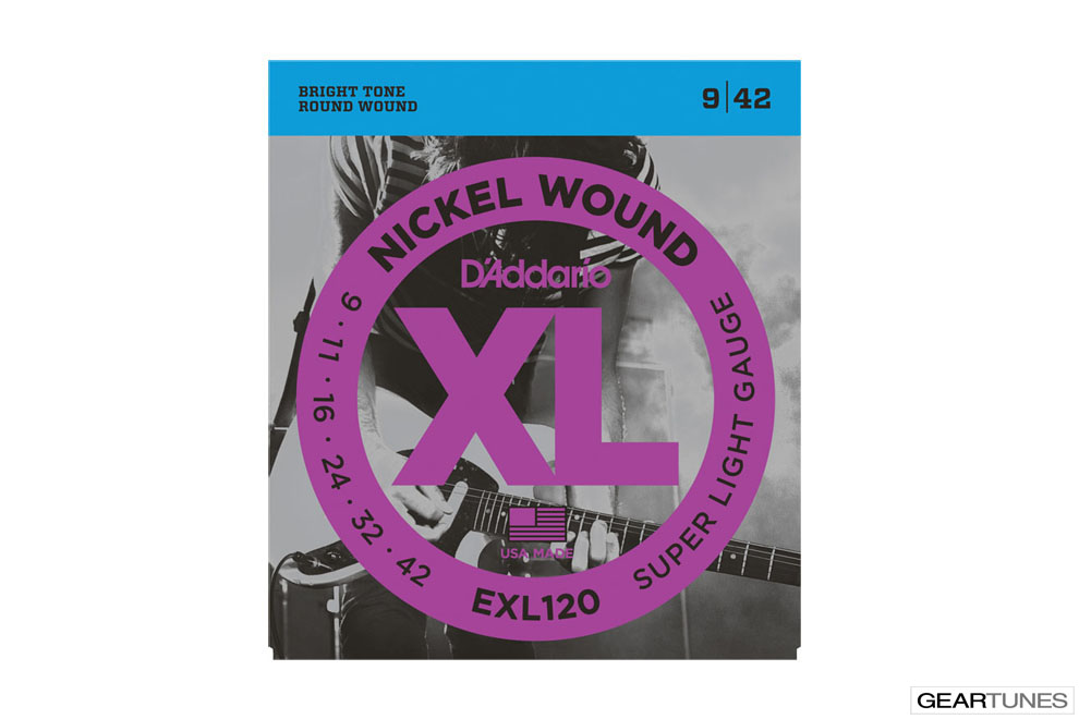 Accessories D'Addario EXL120 Nickel Wound, Super Light, 9-42