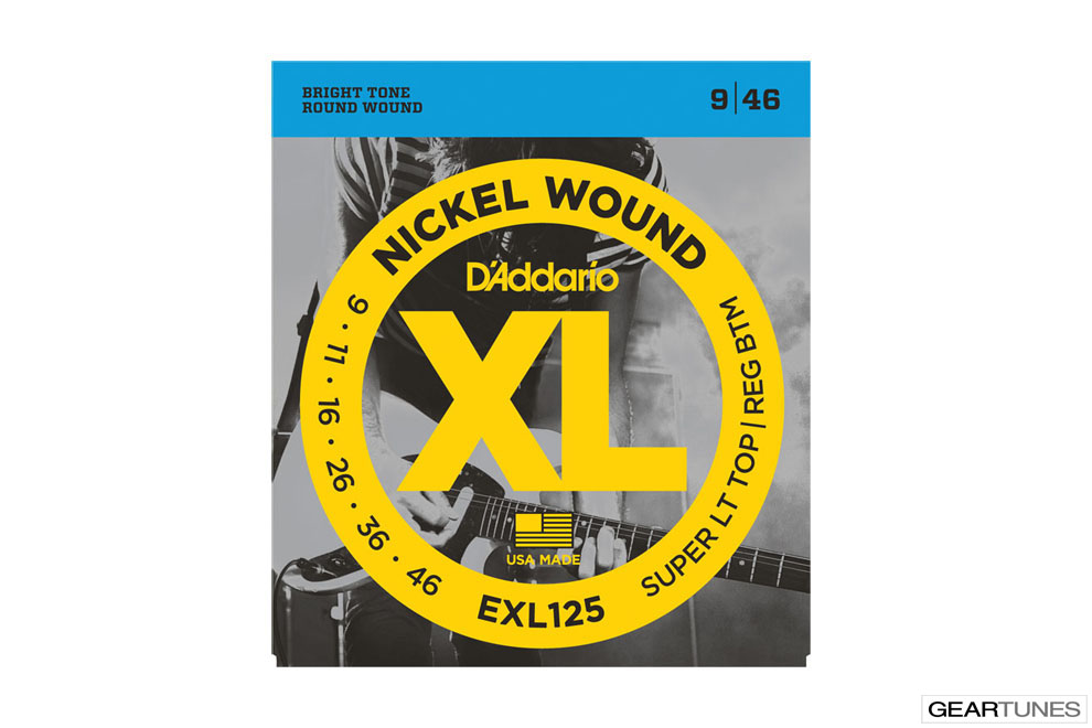 Accessories D'Addario EXL125 Nickel Wound, Super Light Top/ Regular Bottom, 9-46