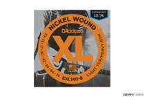 D'Addario EXL140-8 Nickel Wound, 8-String, Light Top/Heavy Bottom, 10-74