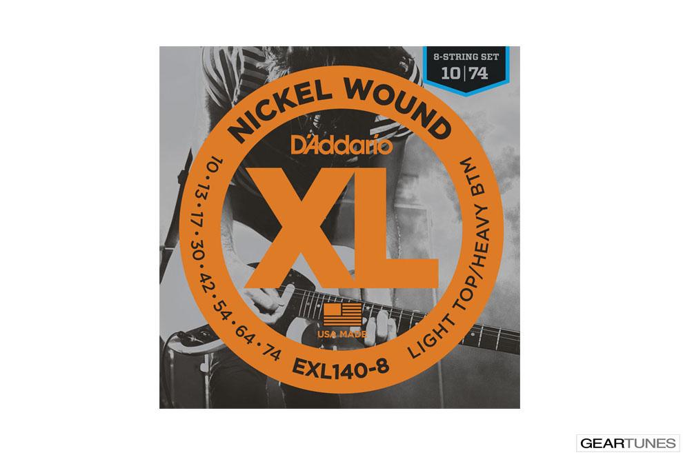 Accessories D'Addario EXL140-8 Nickel Wound, 8-String, Light Top/Heavy Bottom, 10-74
