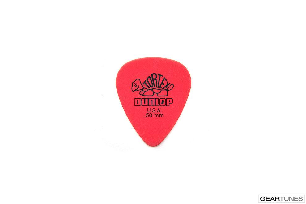 Picks Dunlop Manufacturing Tortex .50mm Red