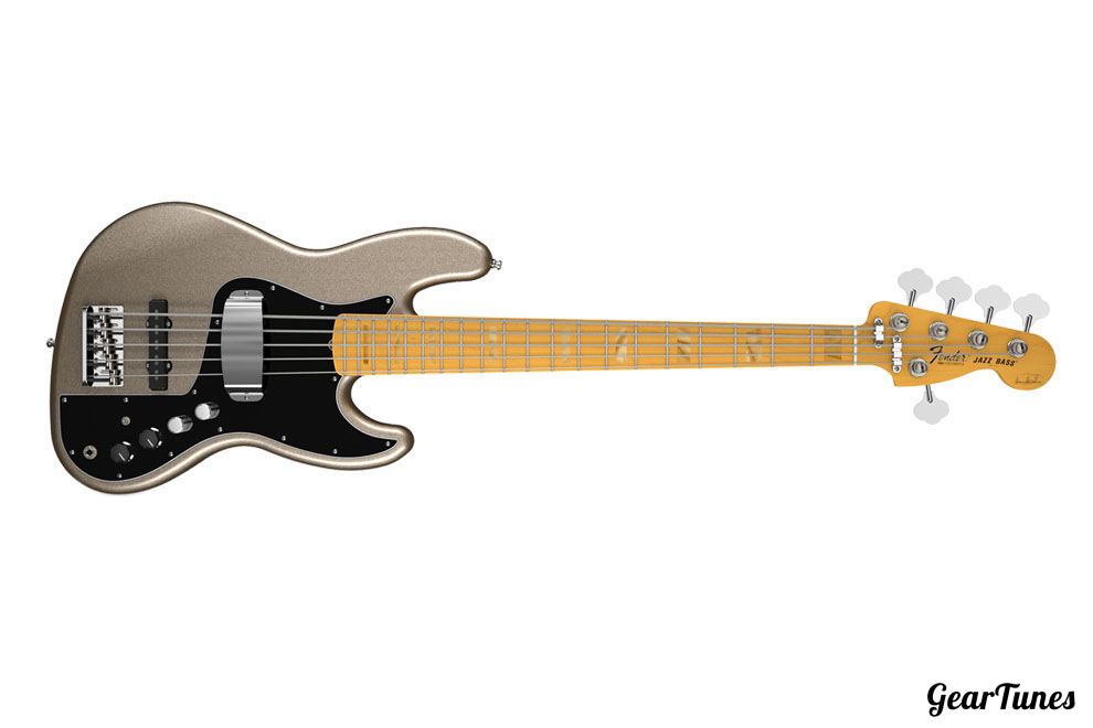5 String Fender Marcus Miller Jazz Bass V (Five String) 3