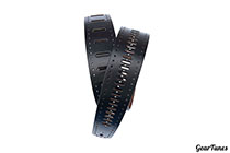 Planet Waves Vented Leather Strap, Black Rows